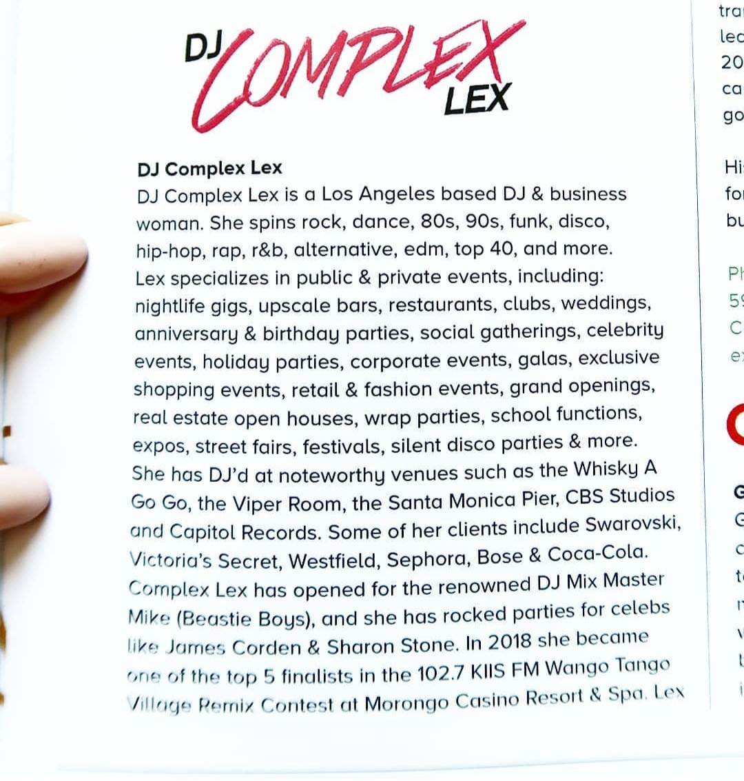 female dj los angeles corporate dj